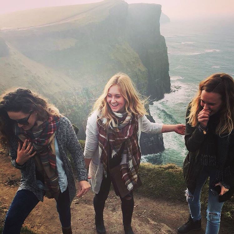 3. @maggiecoughlan02 laughing at the Cliffs of Moher
