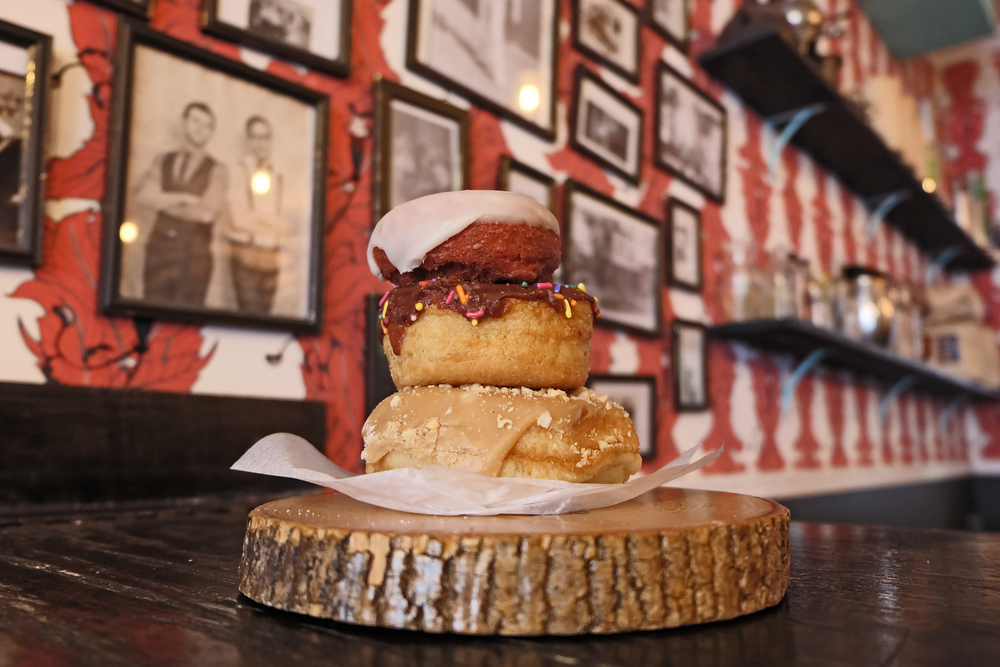 10. Dun-Well: This all-vegan donut shop rotates 200 types of donuts in a fun and quirky shop in Brooklyn.