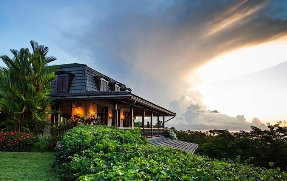 Trinidad and Tobago Stone House where to stay phtoo at sunset