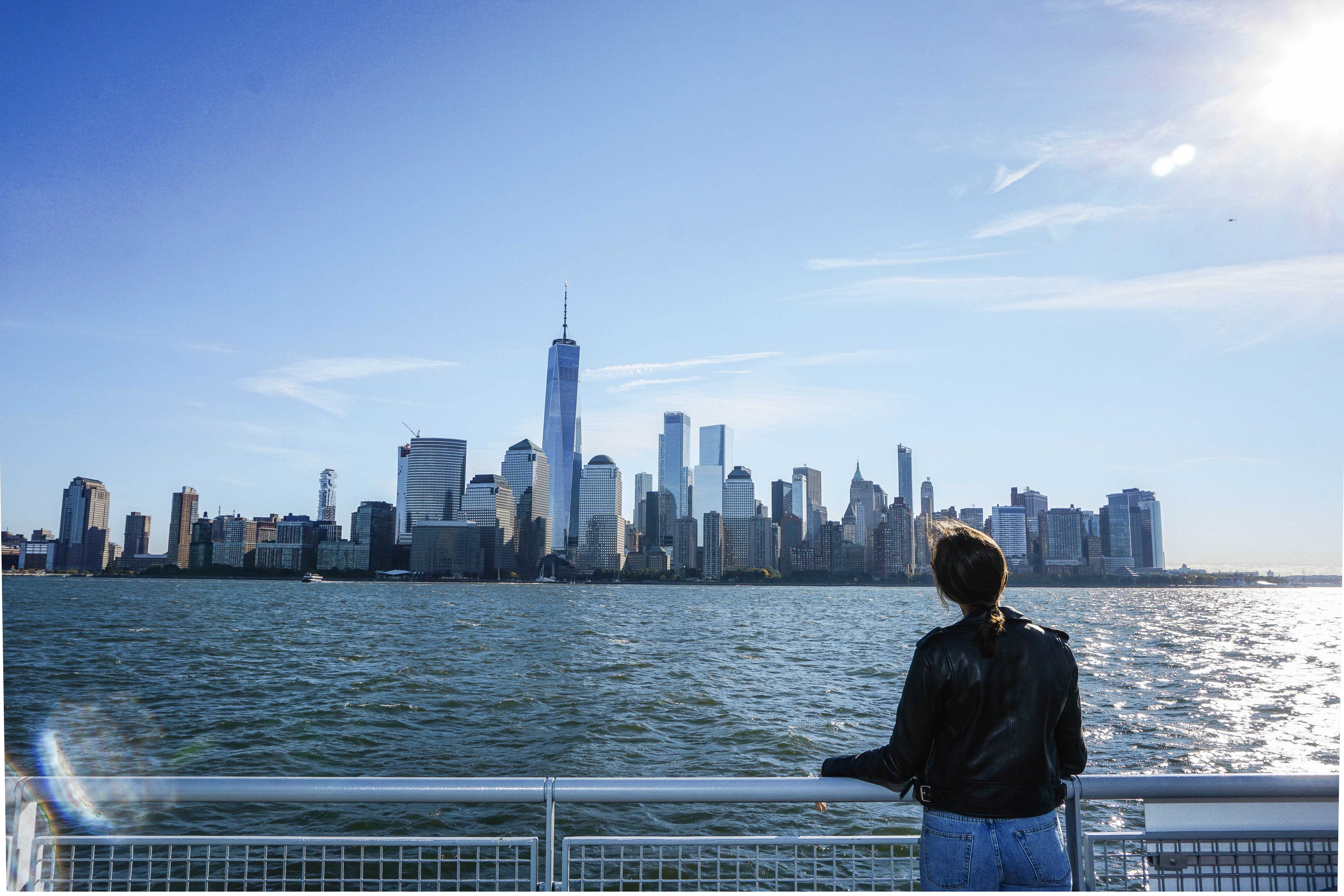 Lulu Escapes in NYC with skyline on a boat