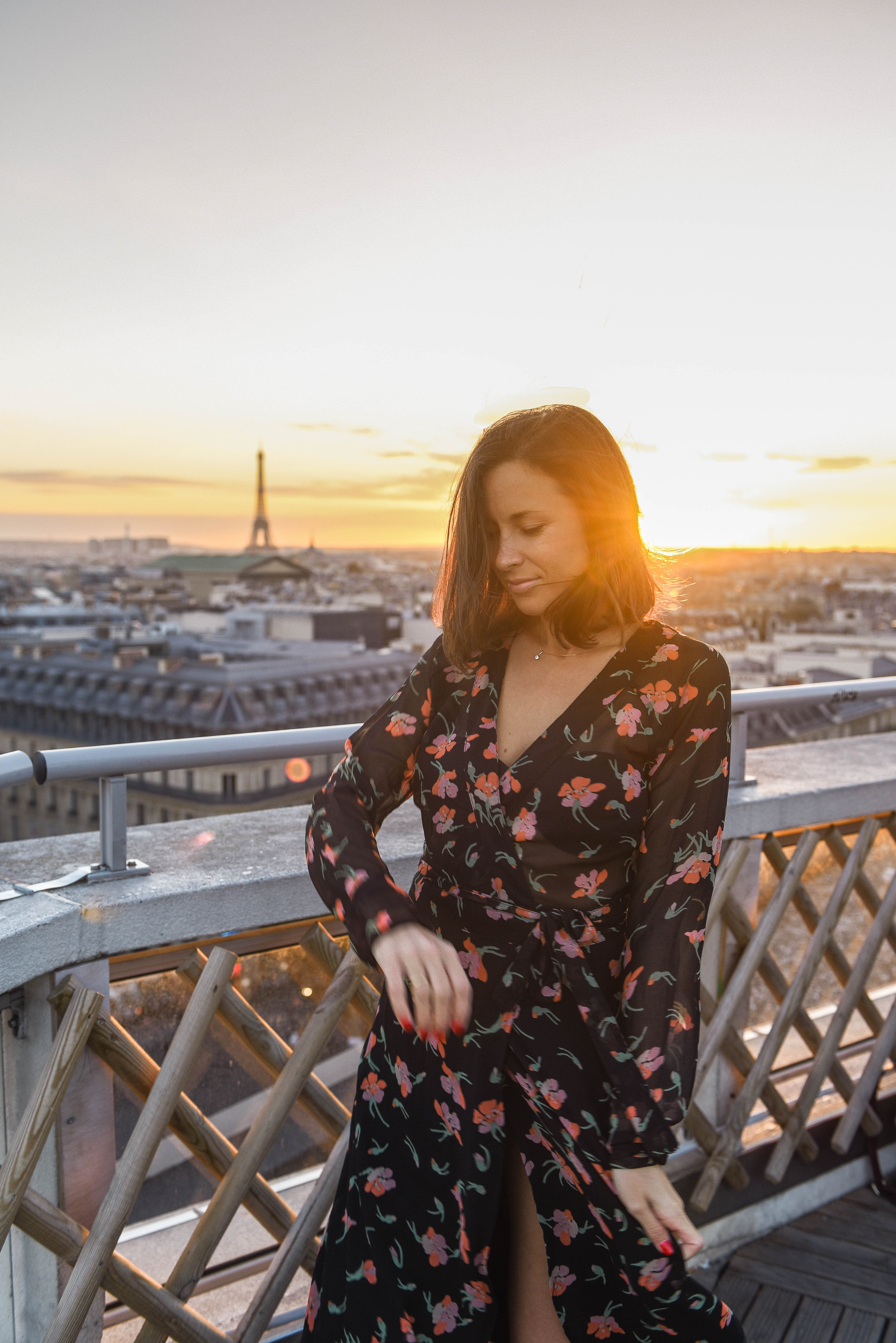 Lulu in Paris with golden light