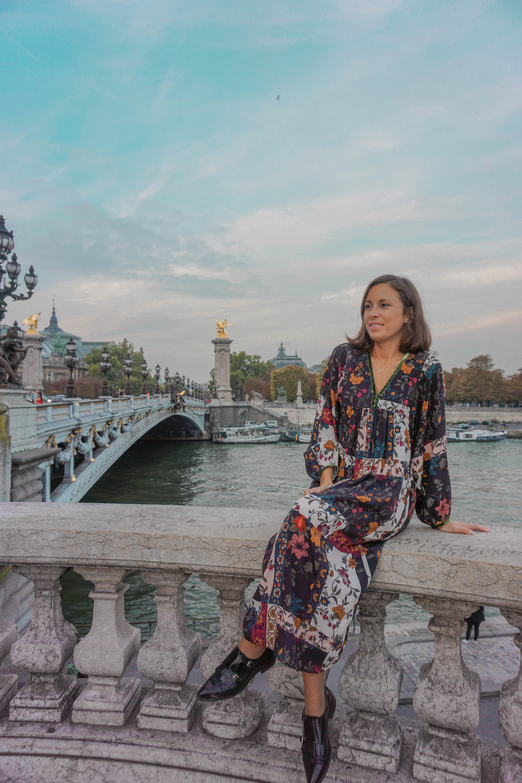 lulu on bridge in Paris
