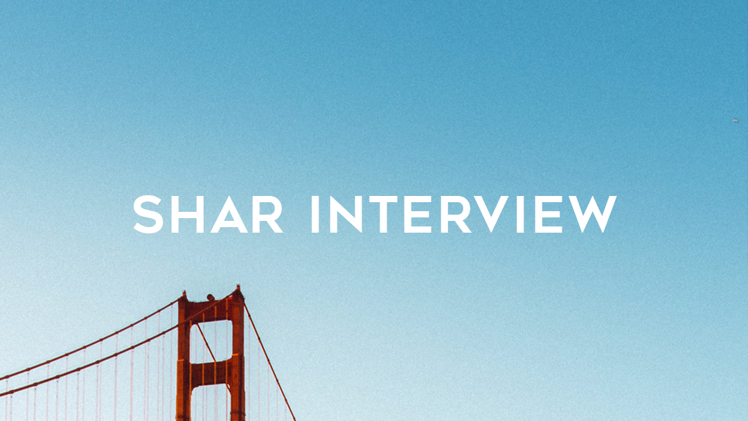words Shar Interview over golden gate bridge and blue sky
