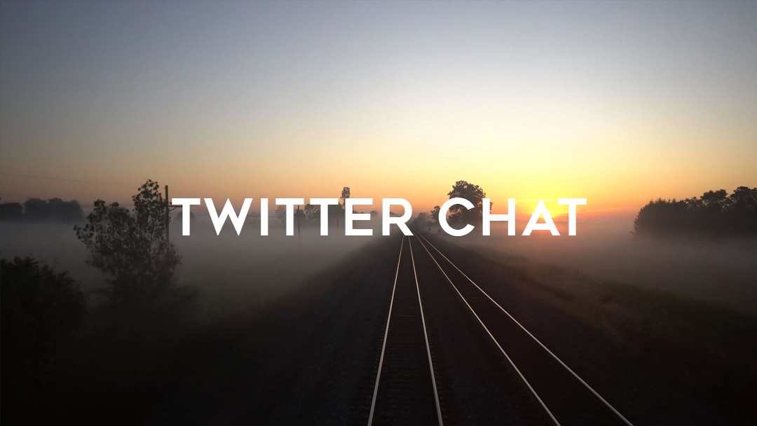 twitter chat over misty morning on tracks