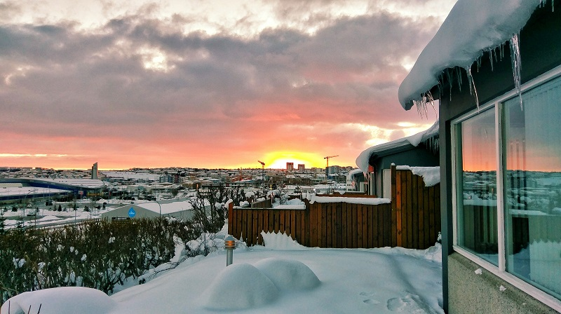Iceland Guide Sunset Airbnb