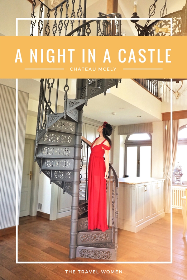 Spiral stairs A NIGHT IN A CASTLE Chateau Mcely Czech Republic