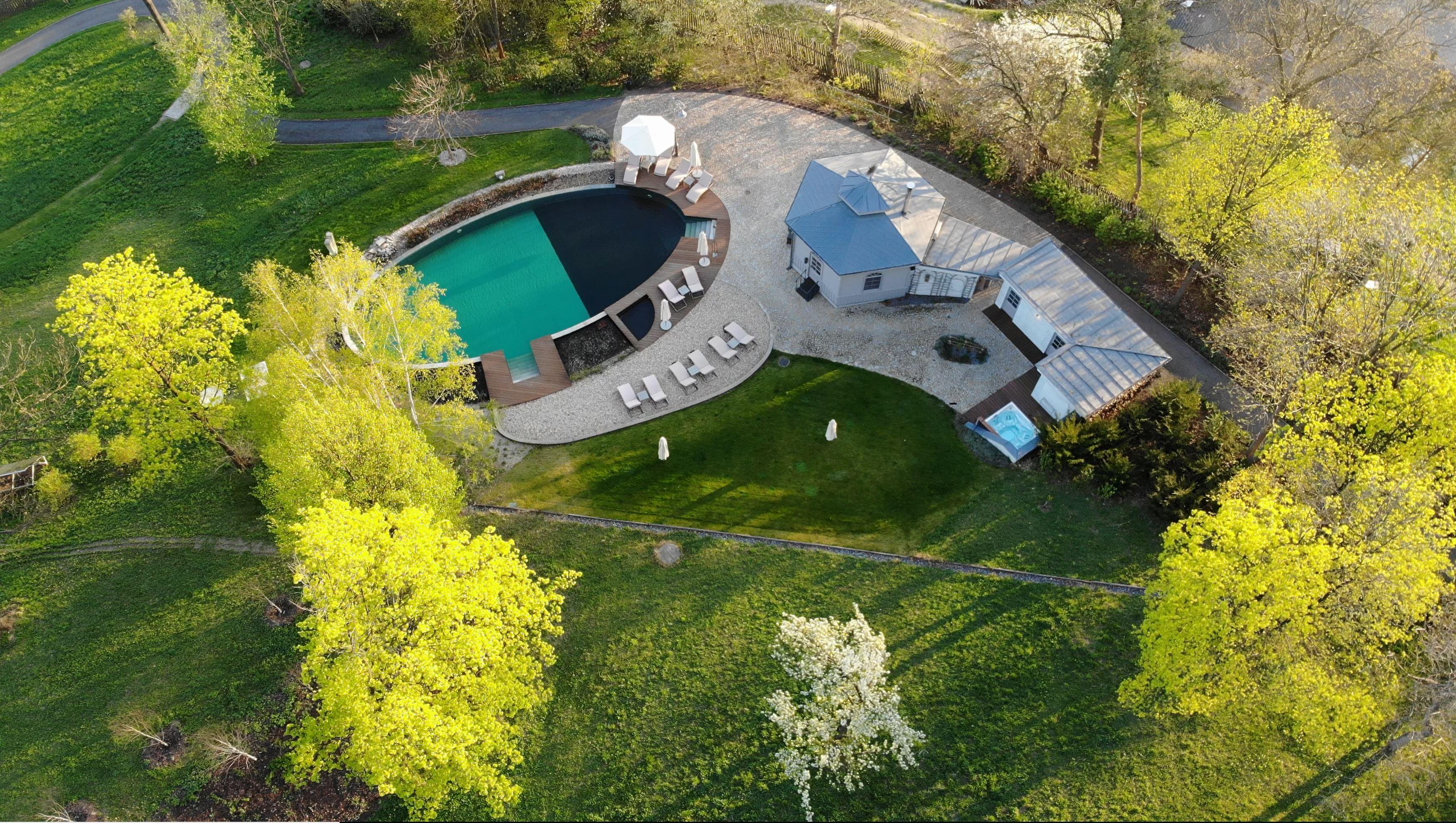 Chateau Mcely pool lake Czech Republic