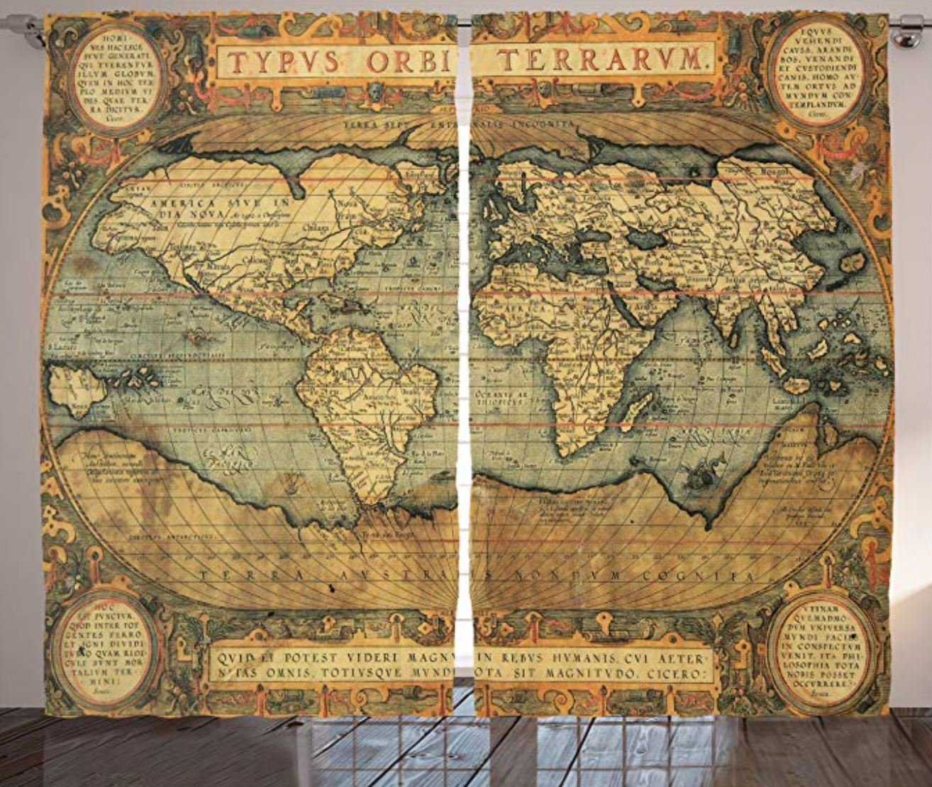 vintage map curtains How to Decorate a Travel Themed Bedroom