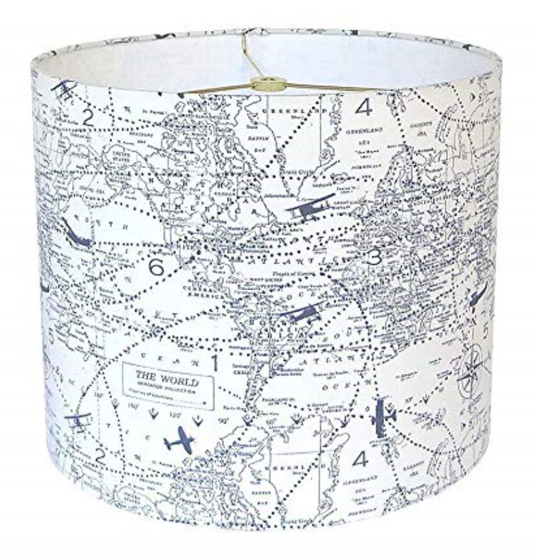 Plane travel lamp shade How to Decorate a Travel Themed Bedroom