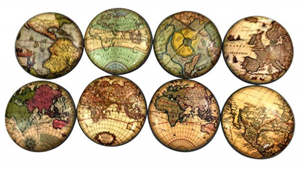 Dresser vintage map knobs How to Decorate a Travel Themed Bedroom