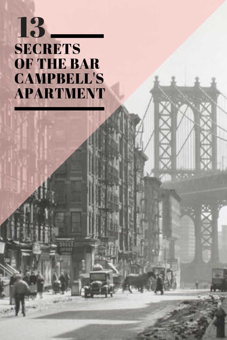 Campbell Apartment Speakeasy Bar in Grand Central NYC