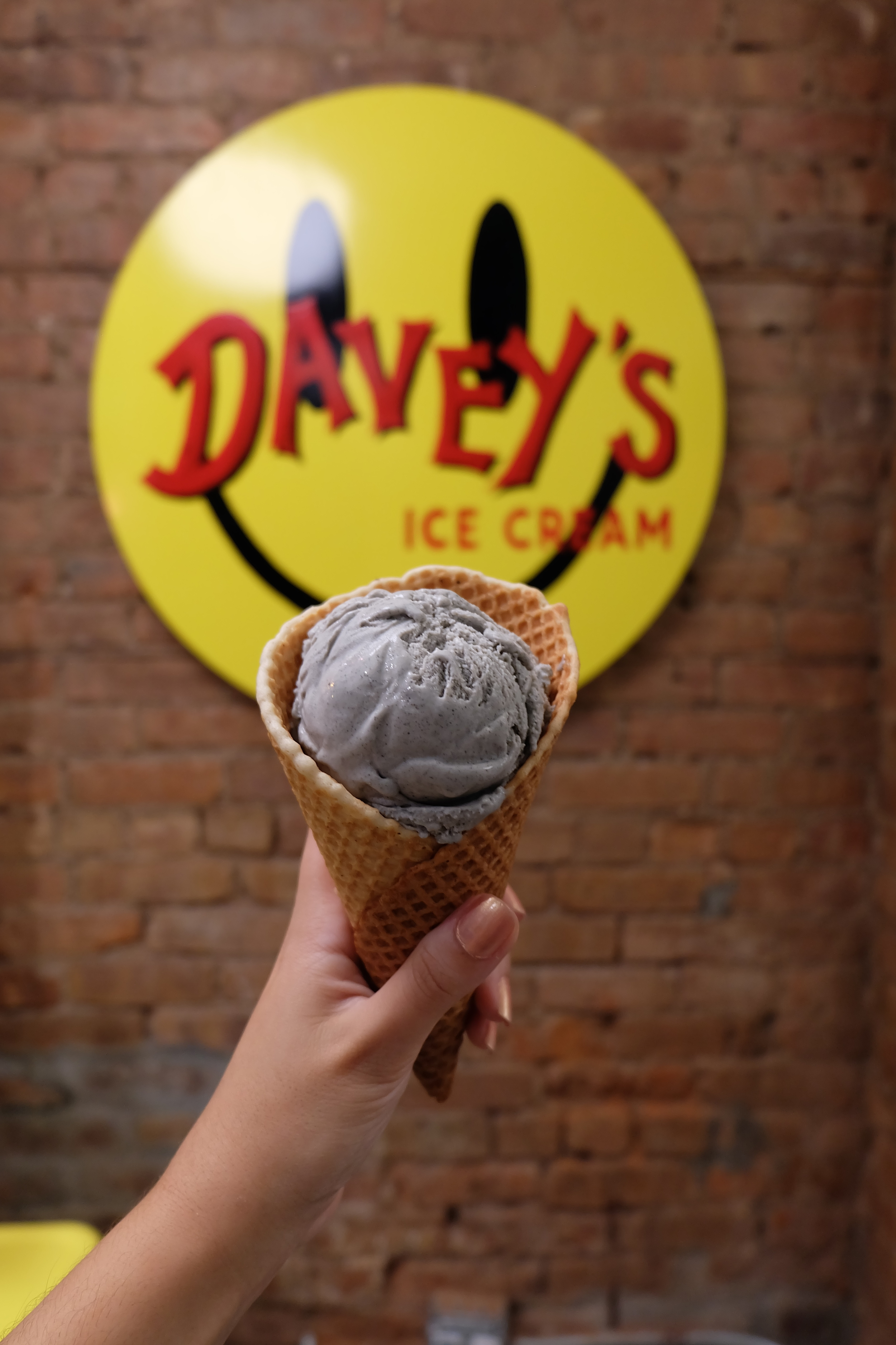 2. Davey's Ice Cream: Davey rang me up at the cash register and when I complimented him on his ice cream tattoo, he shushed me as I I asked,
