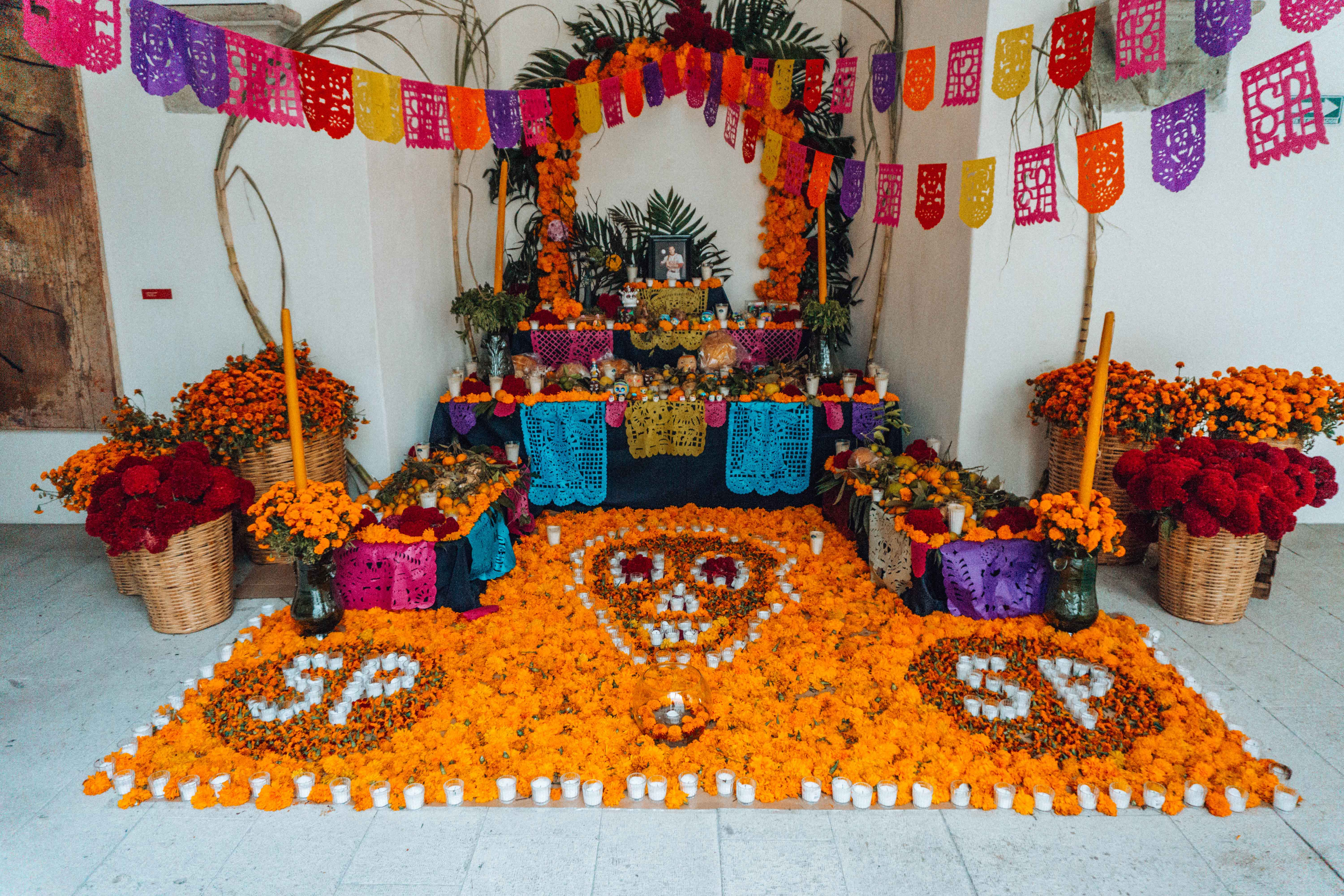 Day of the dead flower decorations