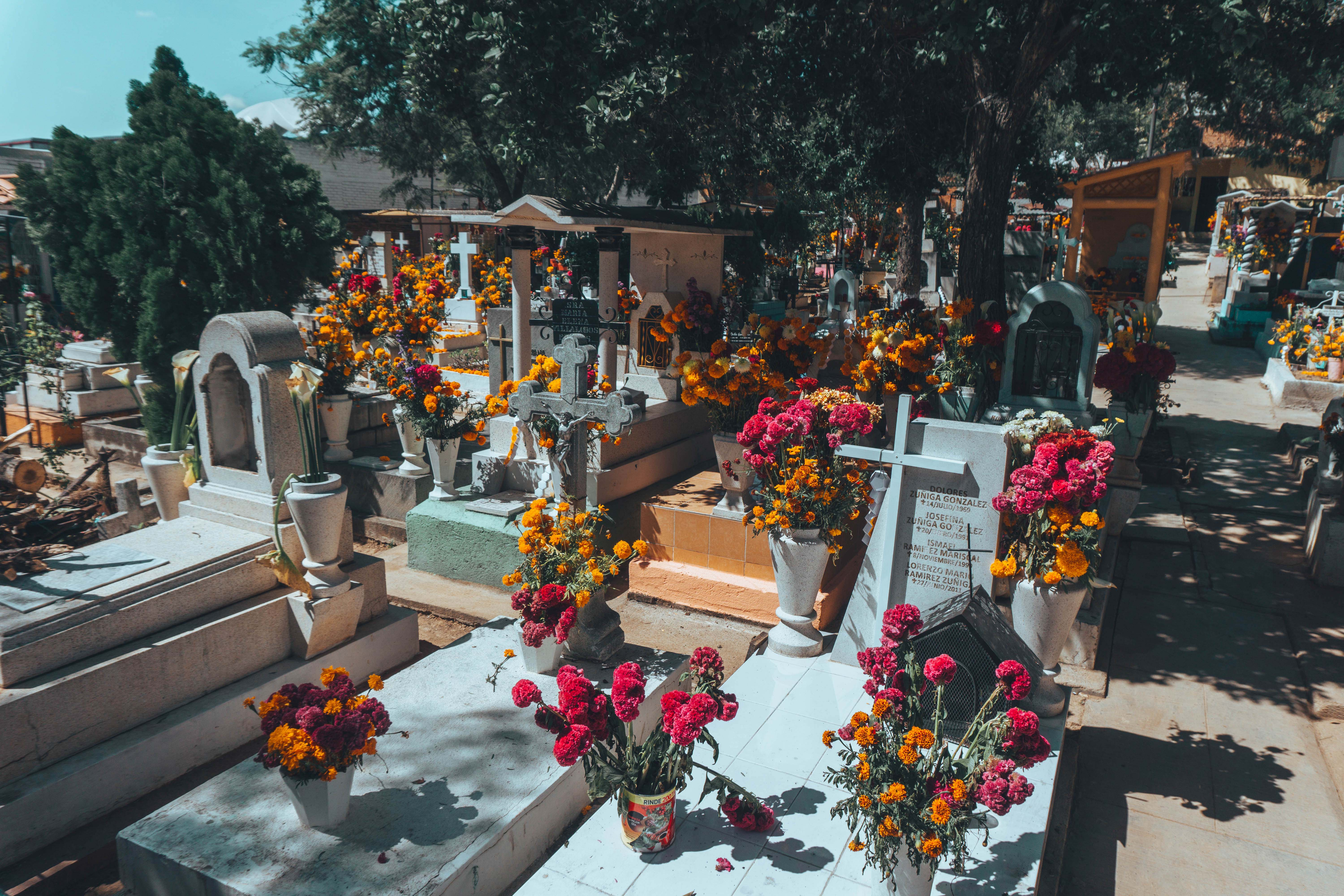 Day of the Dead Graves at a graveyard