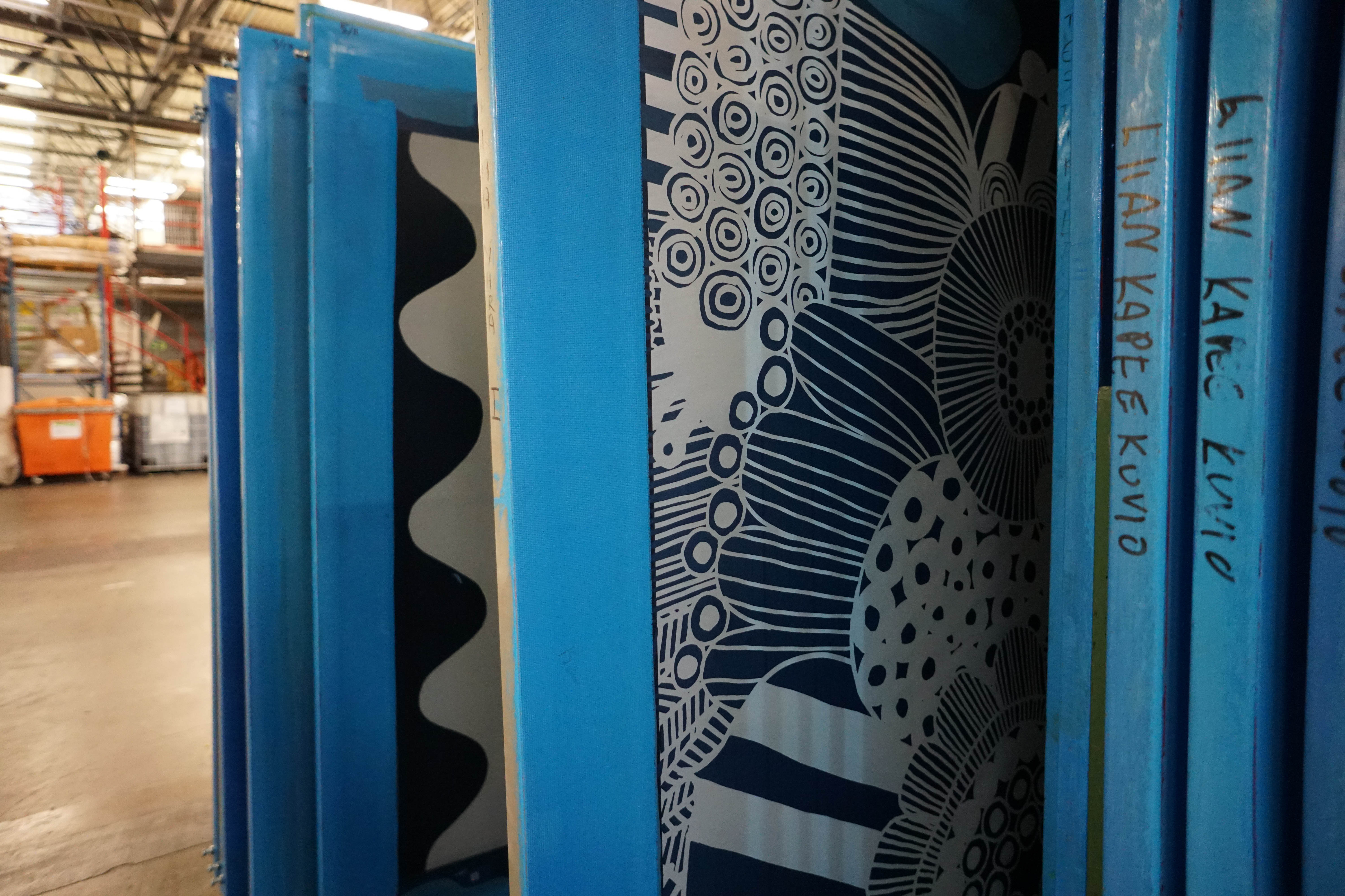 Marimekko screen print pattern at the factory