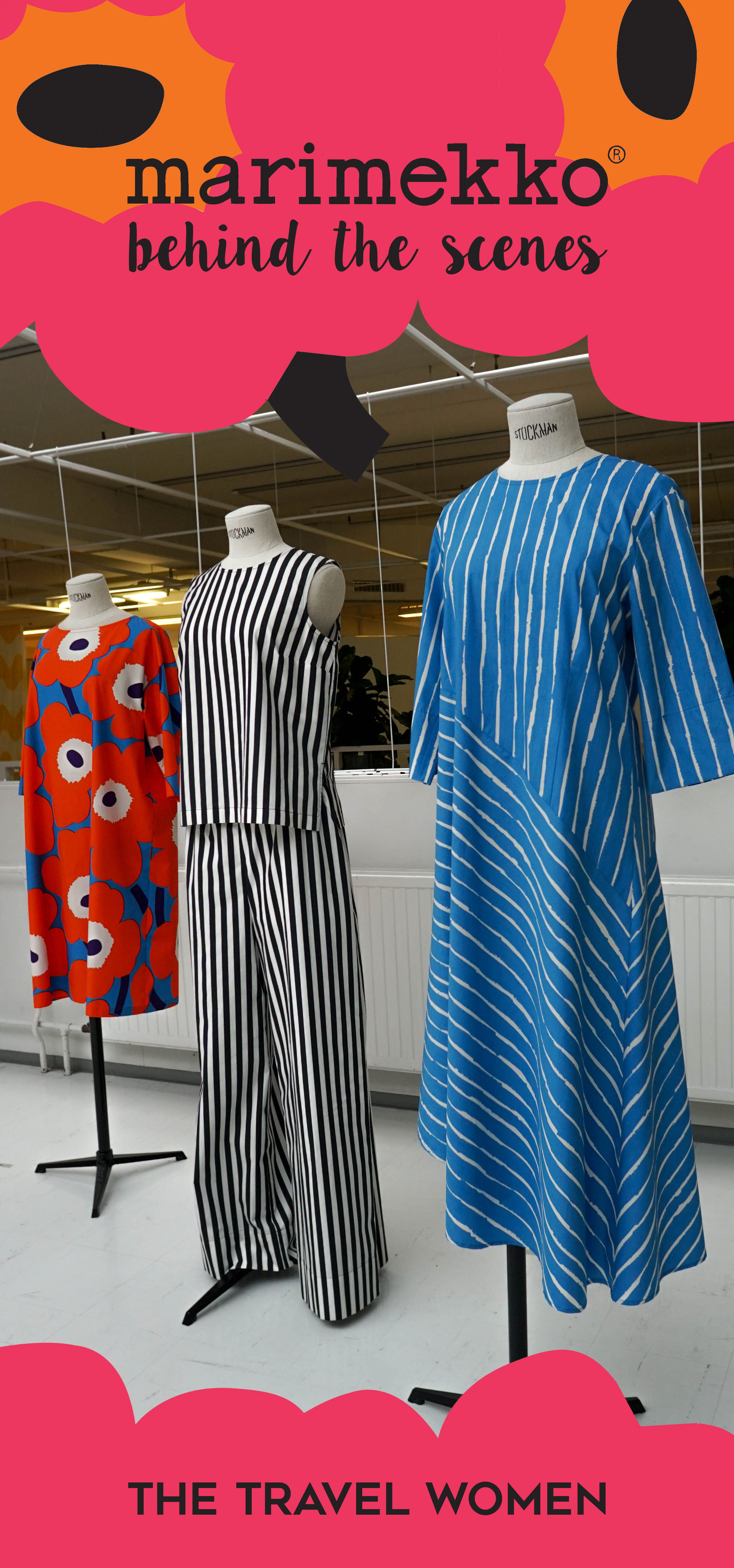Marimekko Behind the Scenes Blue Dress