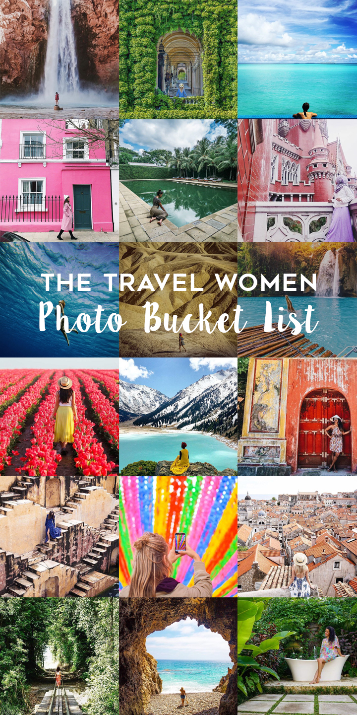 The Travel Women Photo Bucket List Collage