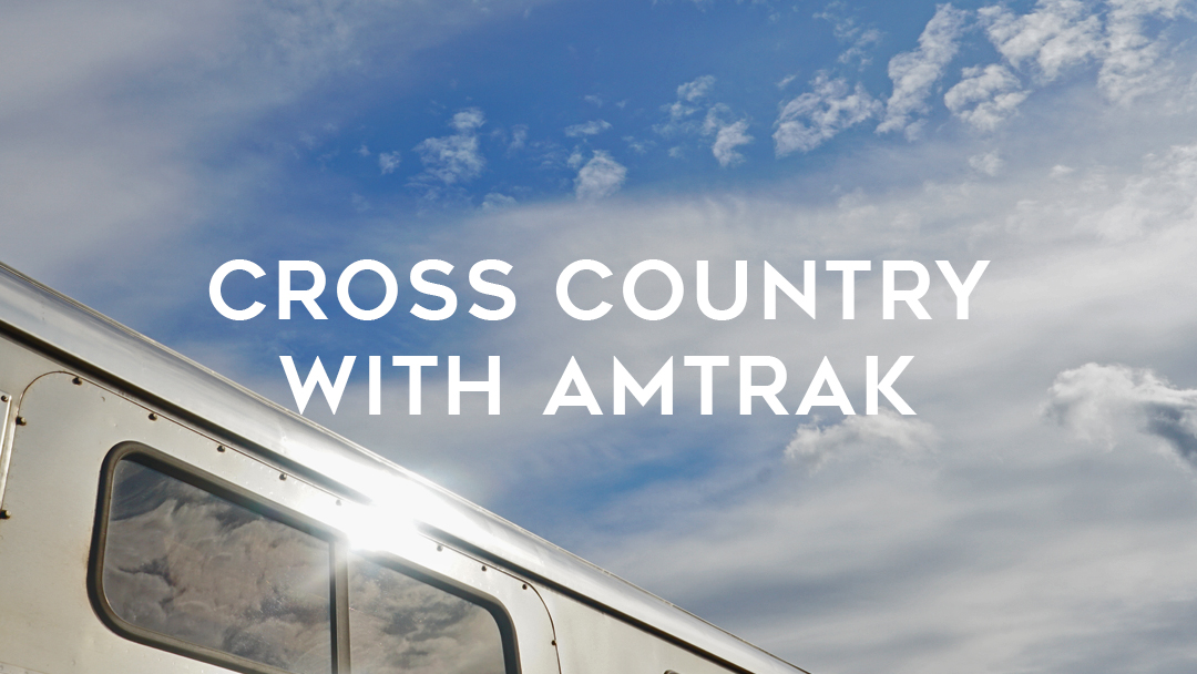cross country with amtrak train with sun flare