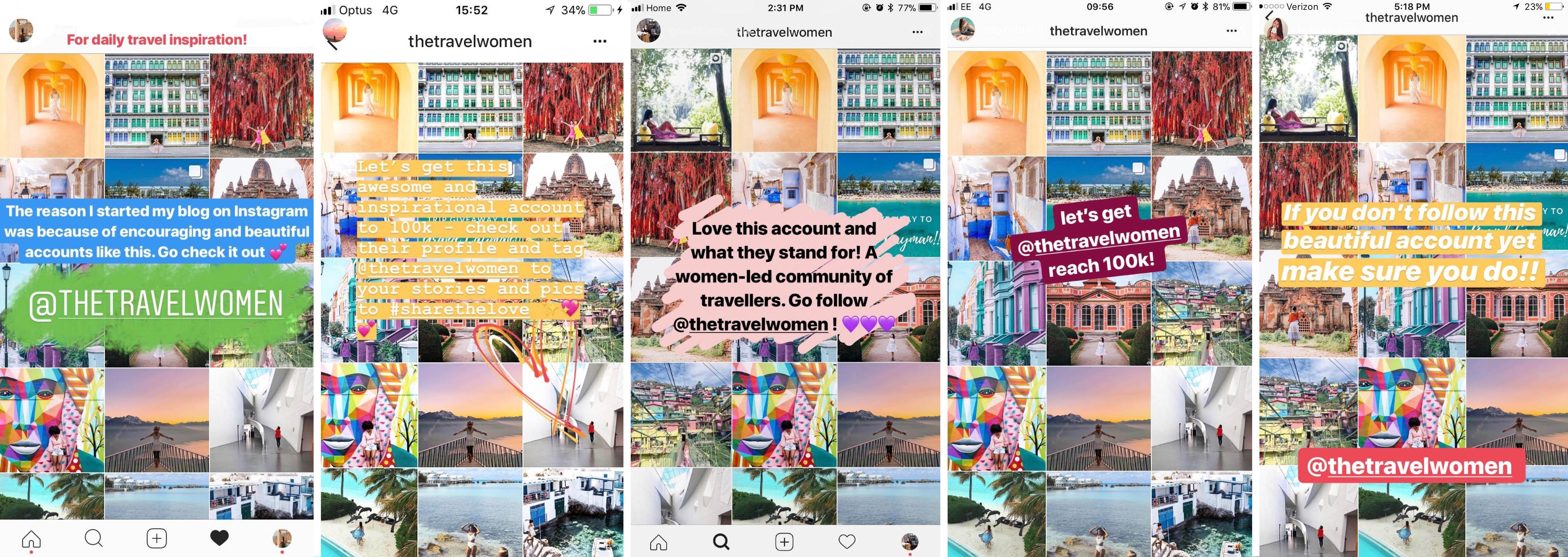 7 Ways To Be Featured on @TheTravelWomen Instagram