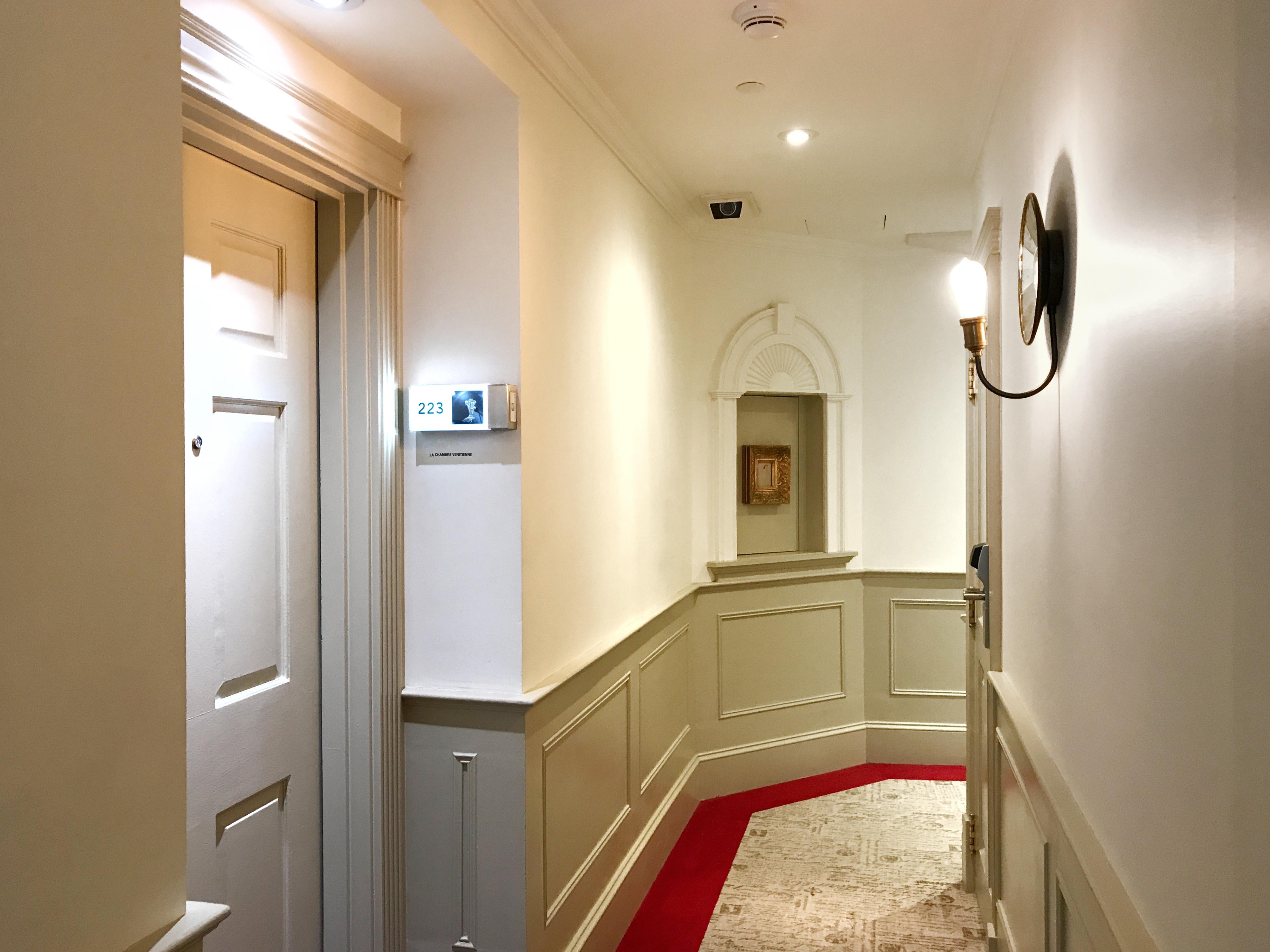 Hallways in Auberge Saint Antoine Luxury Hotel Quebec City