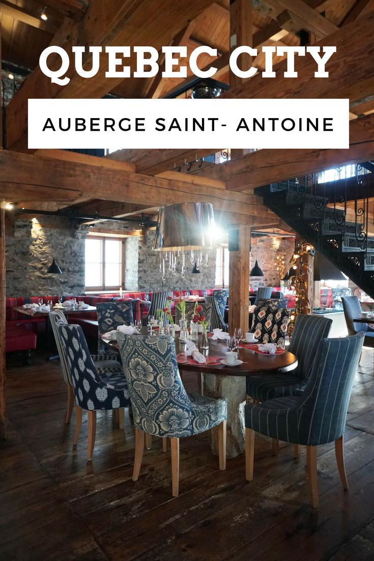Chez Muffy Auberge Saint Antoine Quebec City Luxury Hotel