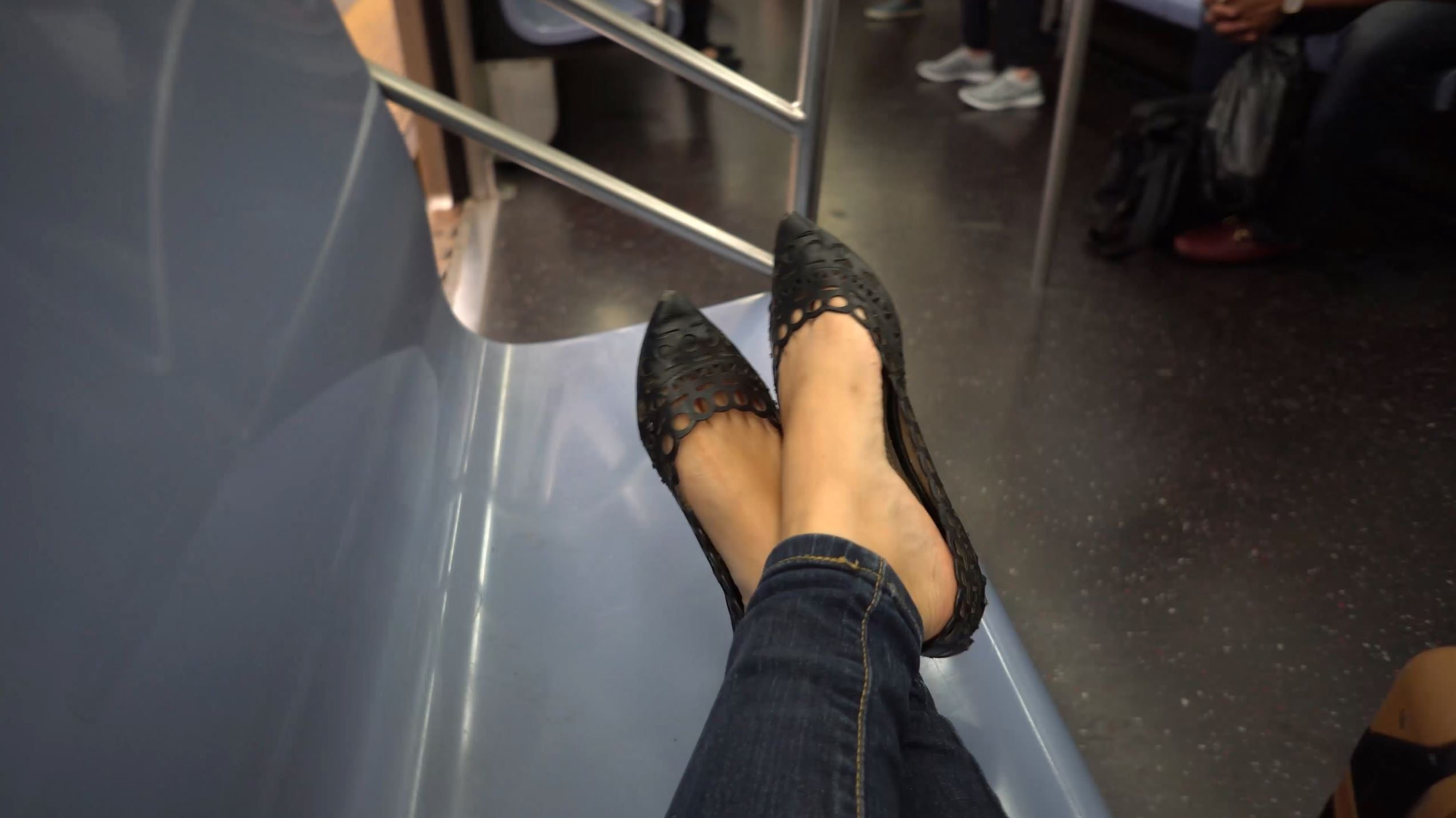 25 Things You Need to Know About the NYC Subway feet on seat