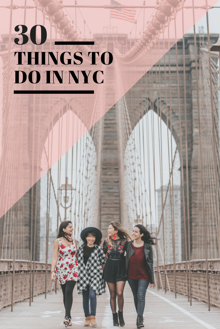 30 Things To Do in NYC Brooklyn Bridge