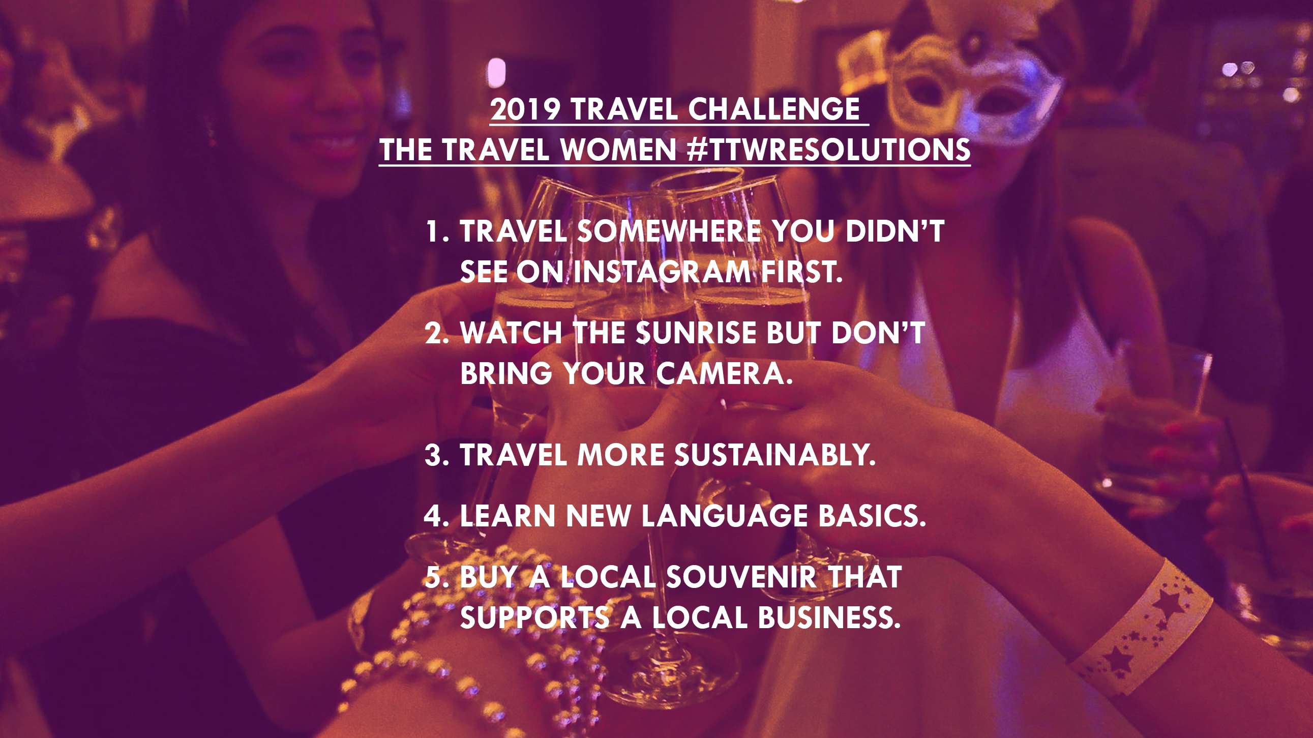 Travel Resolutions 2019 New Year Challenge