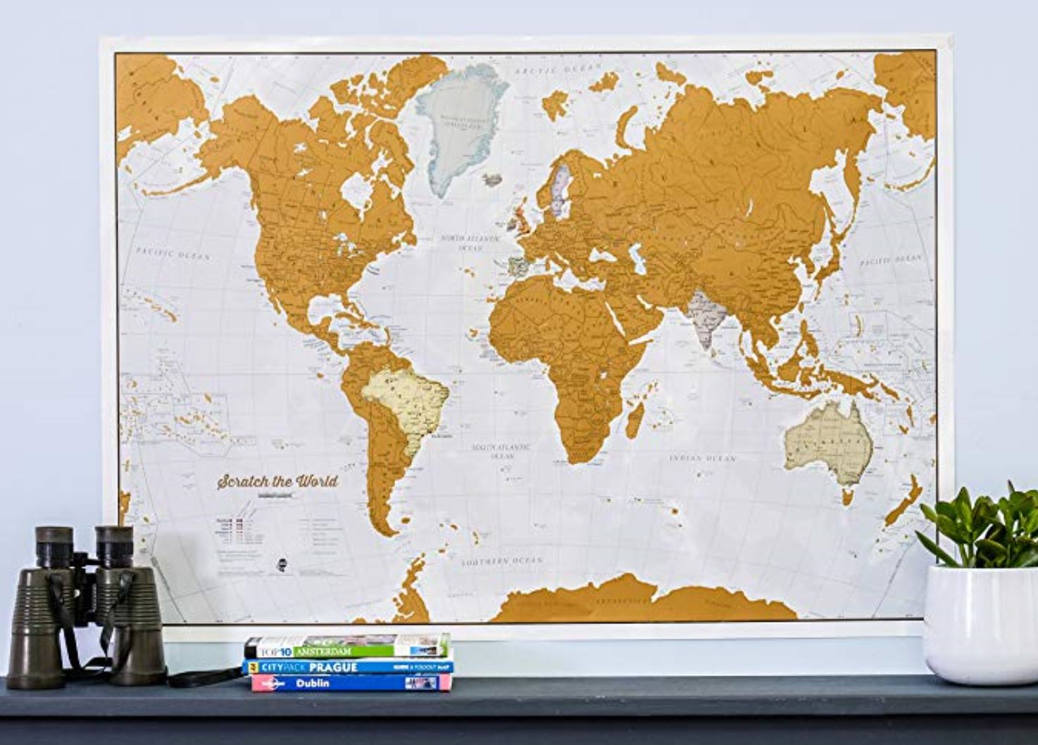 scratch off map How to Decorate a Travel Themed Bedroom