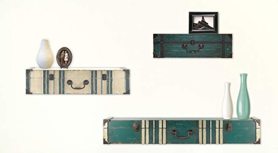 Vintage suitcase shelves How to Decorate a Travel Themed Bedroom