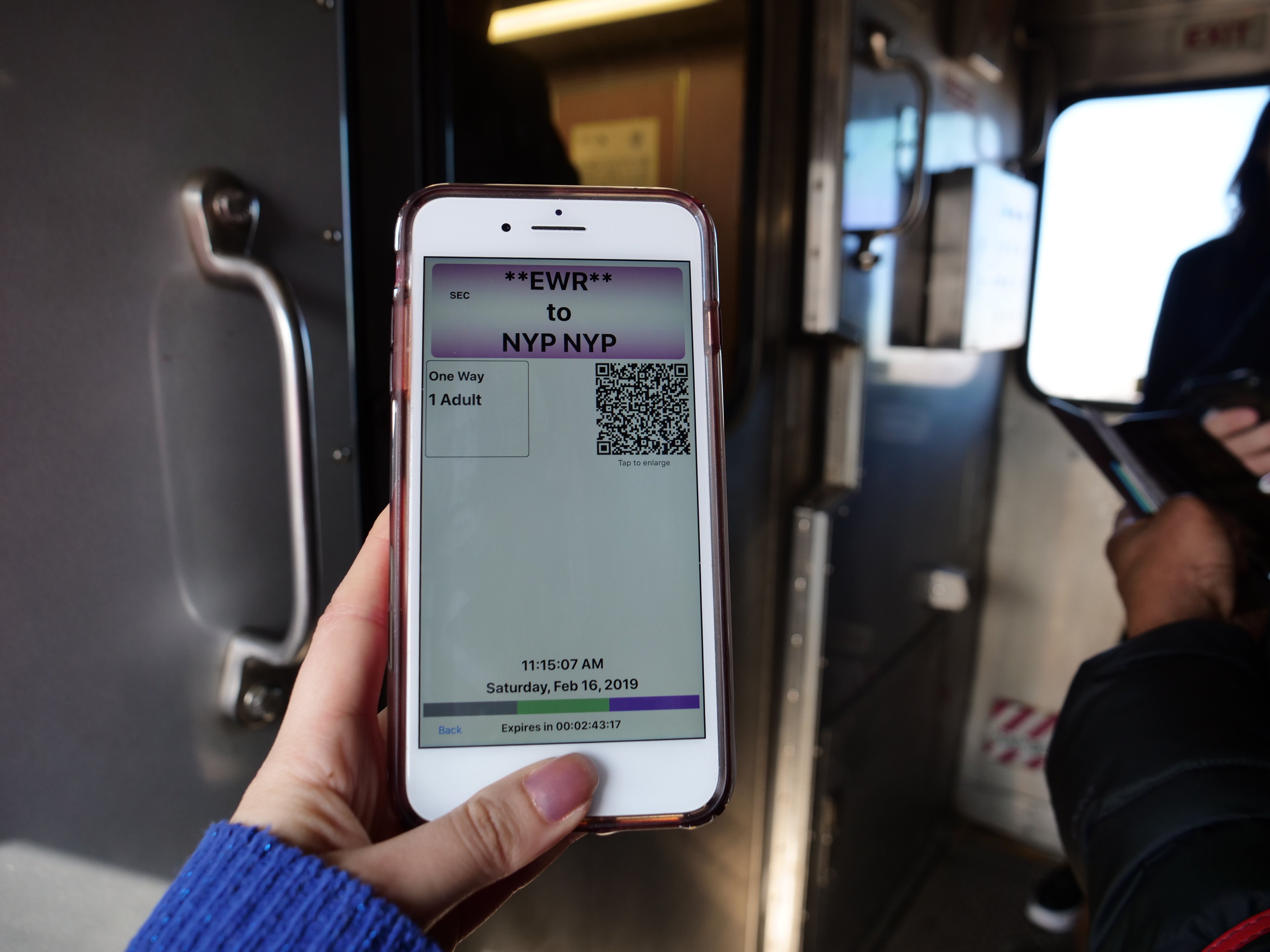 Airtrain NJ Transit Cheapest, Fastest Way from Newark to NYC Manhattan app on phone