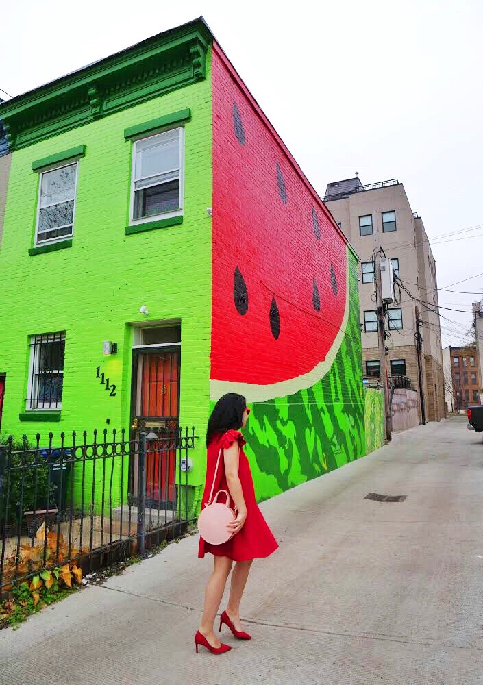 Watermelon House Washington DC most instagrammable