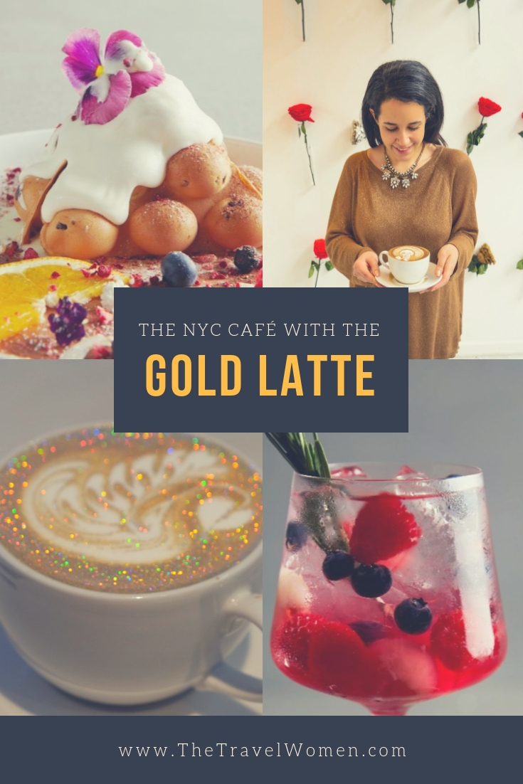 The NYC cafe with the gold latte LROOM Valentine's day