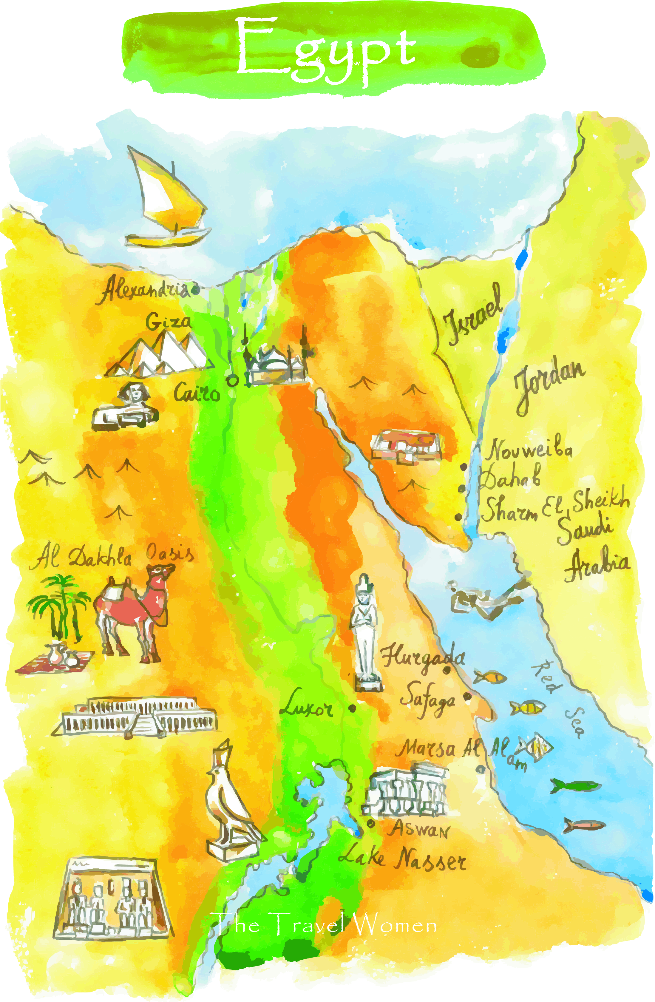 Egypt map Where to go in 2019