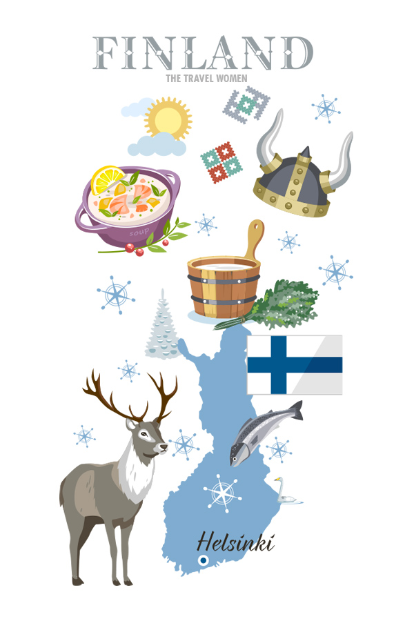 Finland map Where to go in 2019