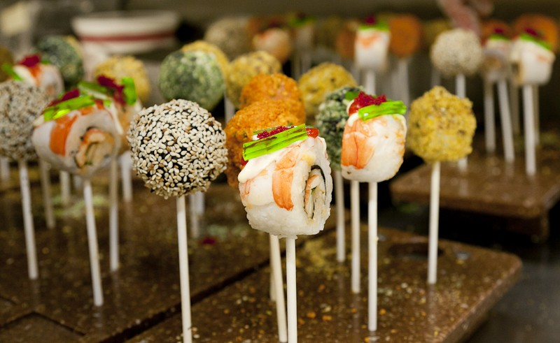 Cruise Guide: Celebrity Summit Revolution Renovations sushi pops Qsine