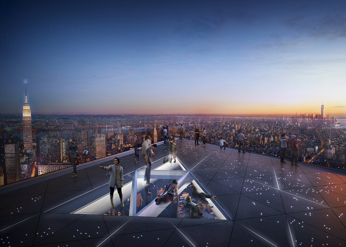 Hudson Yards Edge view observatory deck