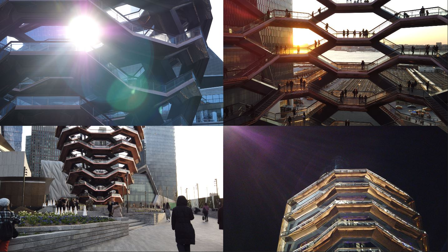 sunrise, sunset, Day and Night at NYC Travel Guide: Vessel, Hudson Yards